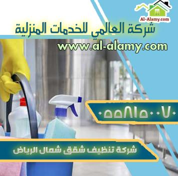 شركة تنظيف شقق بشمال الرياض