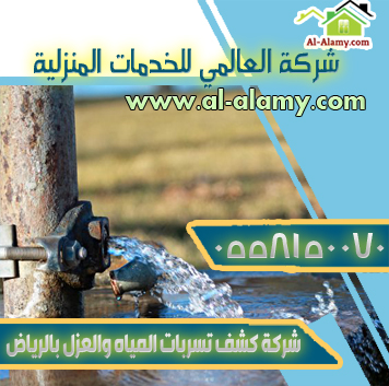 شركة كشف تسربات المياه والعزل بالرياض